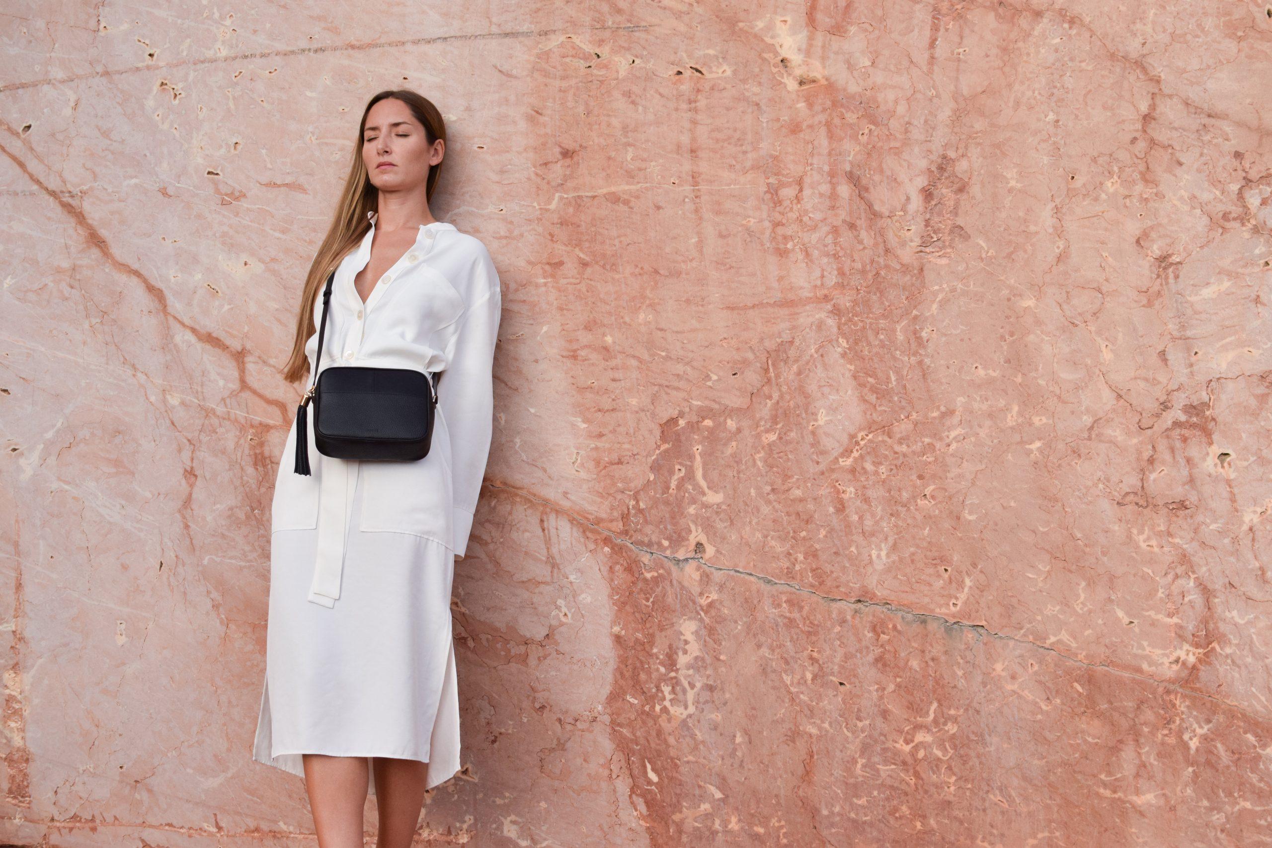 miuur lookbook 004 lua black leather bag