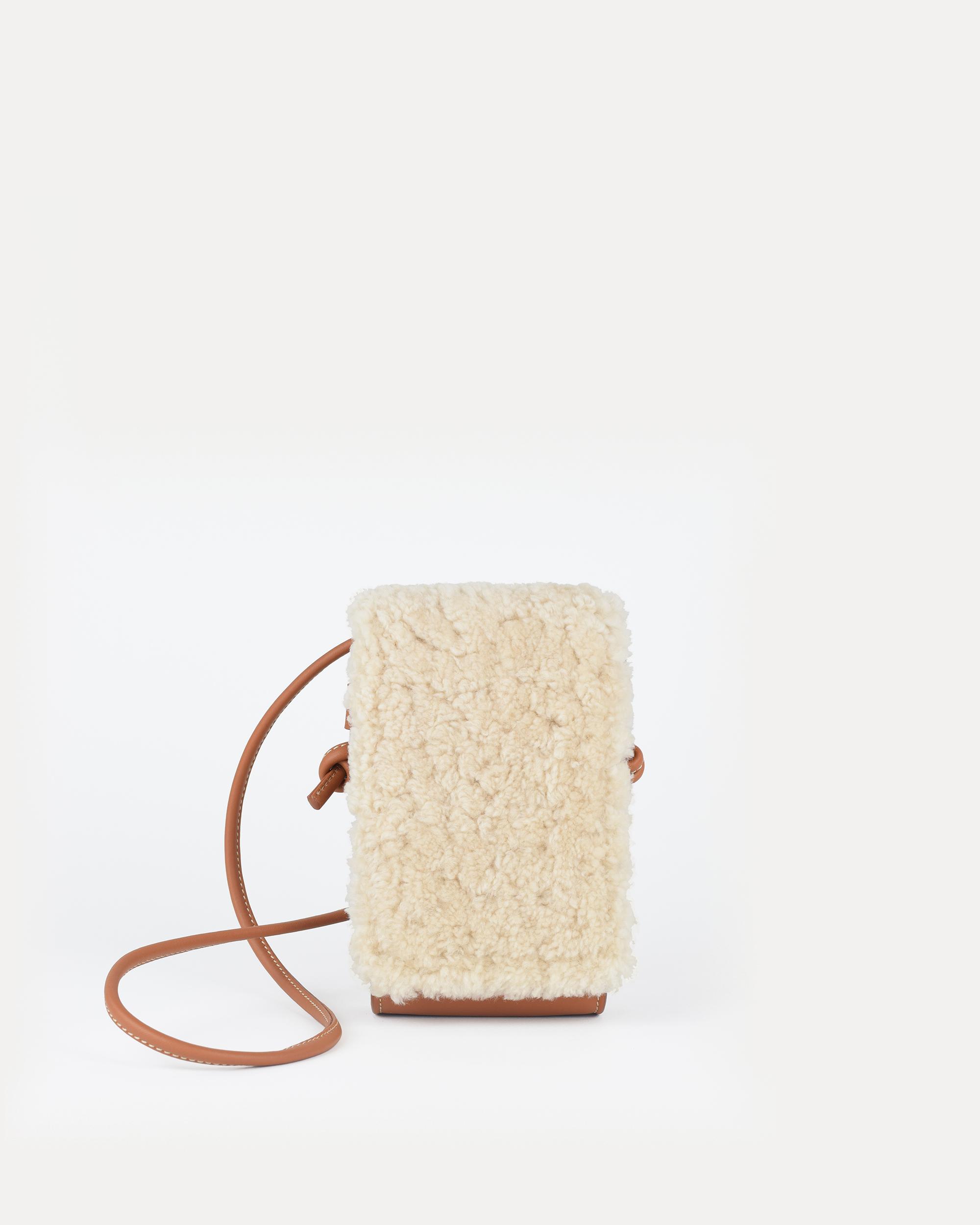 miuur paquito minibag shearling corderito