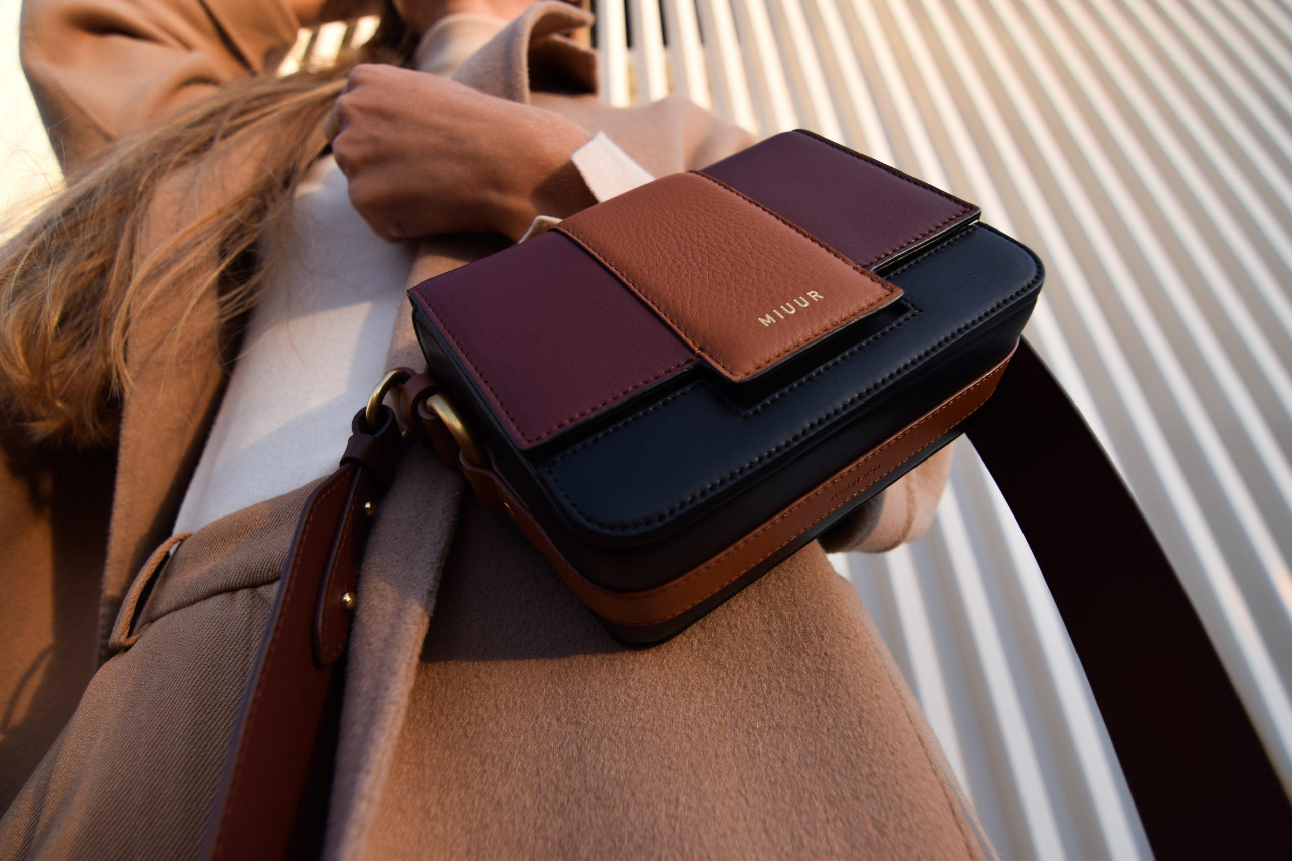 miuur m handbag trio mocha brown black